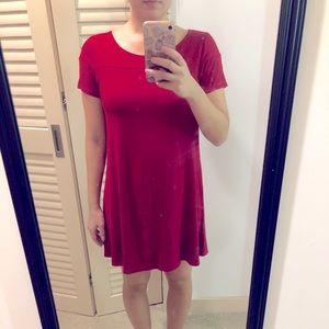 Red Fighting Eel tee shirt dress